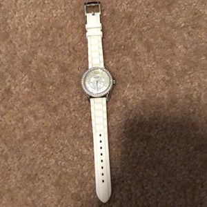 Fossil Watch. White with rhinestone face.